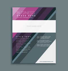 Premium business brochure flyer design template vector