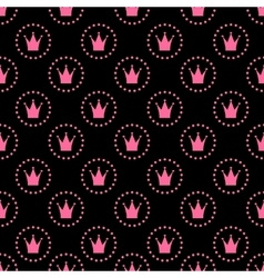 Princess Seamless Pattern Background vector image vector image