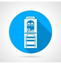 Round icon with white water cooler vector