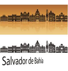salvador de bahia v2 skyline vector image vector image