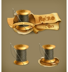 Spool of thread icon vector