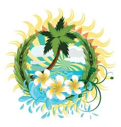Tropic island2 vector image vector image