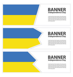 ukraine flag banners collection independence day vector image