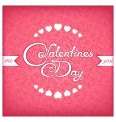 Valentines day title design vector image