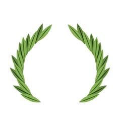 Wreath crown frame icon vector