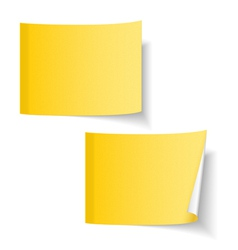Yellow Paper Notes vector image vector image