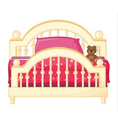 A bed of a child vector