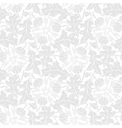 Seamless pattern of stilized leaf and flower vector image