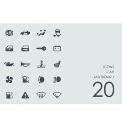 Set of car dashboard icons vector