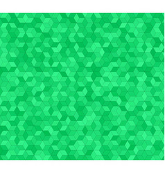 Green 3d cube mosaic pattern background design vector