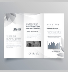 Creative trifold brochure template with abstract vector