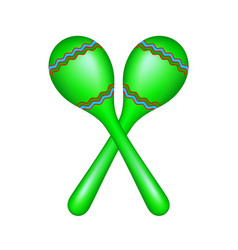 Pair of maracas in green design vector