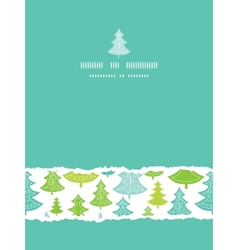 Holiday Christmas trees vertical torn seamless vector image