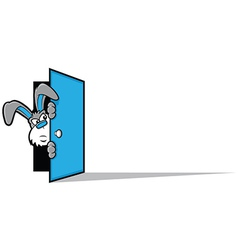 Rabbit door vector