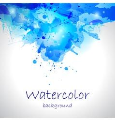 Watercolor blue blot background vector
