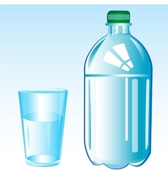 Mineral water and glass vector