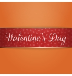 Shiny red and golden valentines day ribbon vector