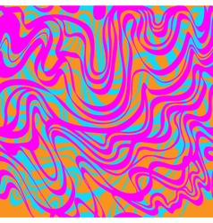 Abstract blue orange and pink moire acid pattern vector