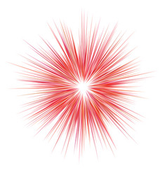 abstract red explosion blast background vector image vector image