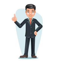 asian businessman chinese japanese vietnamese male vector image