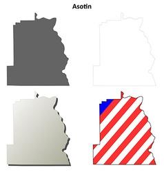 Asotin map icon set vector
