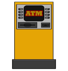 Bank machine vector image vector image