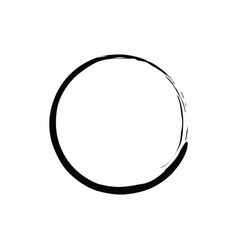 black circle zen design vector image vector image