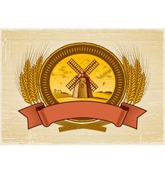Cereal harvest label vector image vector image