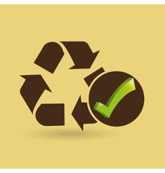 Concept ecological icon recycle vector