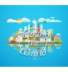 Dirrefent world famous sights around the world vector