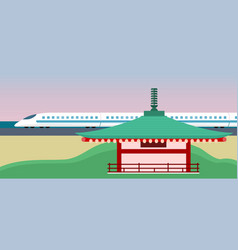 Eastern world or asia concept in flat style vector