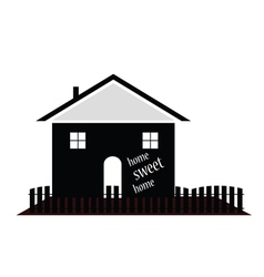 Home sweet home silhouette vector