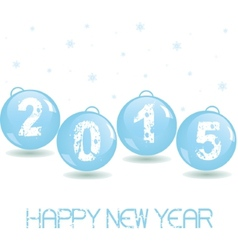 New year glass baubles vector