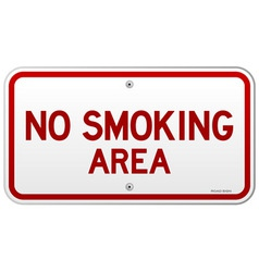 No Smoking Area Notice vector image
