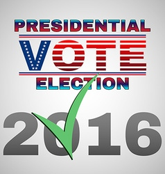 Presidential vote election banner vector