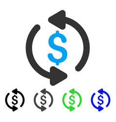 Refresh price flat icon vector