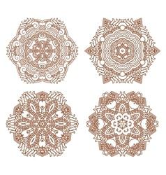 Set aztec ornaments vector