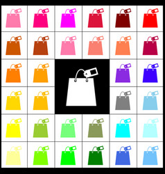 Shopping bag sign with tag felt-pen 33 vector
