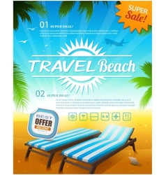 Summer beach vacation background vector image vector image