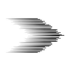 The black arrow lines vector image vector image