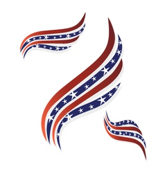 USA flags symbol logo vector image