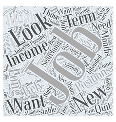 What you should look for in a new job word cloud vector