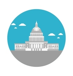 Flat icon capitol vector