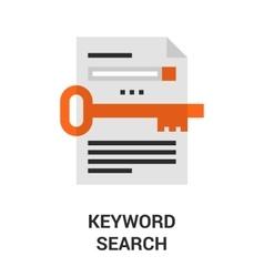 keyword search icon vector image