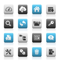 Hosting icons matte series vector