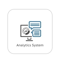 Analytics system icon flat design vector