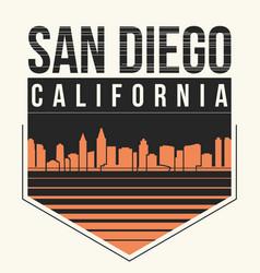 san diego graphic t-shirt design tee print vector image