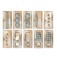 set of door3 vector image