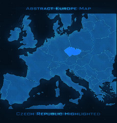europe abstract map czech republic vector image