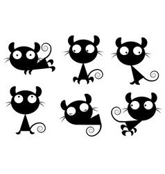 Small images of cats vector